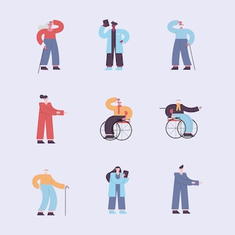 Nove persone con alzheimer