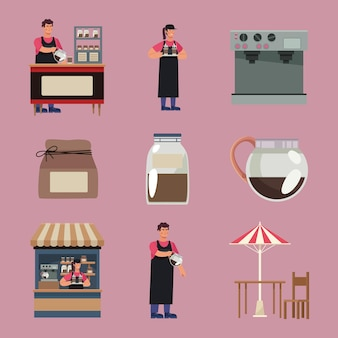 Nove icone della caffetteria