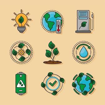 Nove icone dell'ecologia