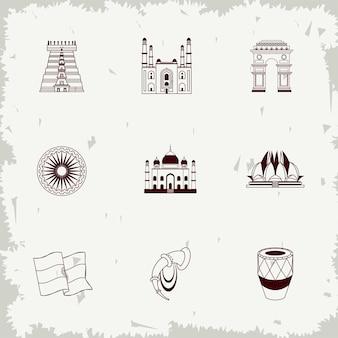 Nove icone dell'indipendenza dell'india