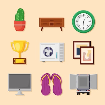 Nove icone del trasloco