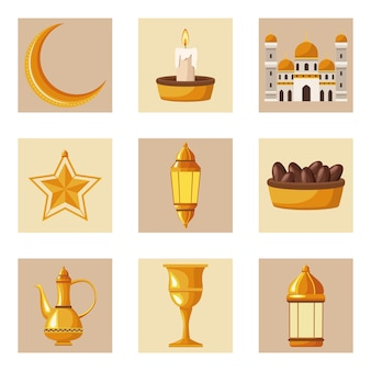 Nove elementi di ramadan kareem