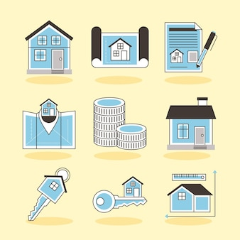 Nove icone immobiliari
