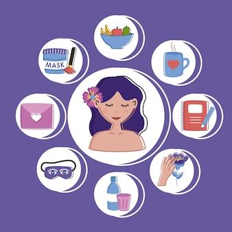 Nove icone per la cura di sé
