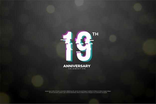 Il diciannovesimo anniversario con l'effetto di affettare in pace