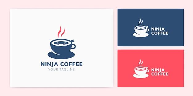 Modello logo caffè ninja