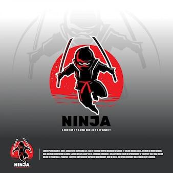 Modello di logo di ninja esport