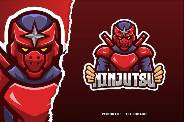 Modello di logo del gioco ninja esports