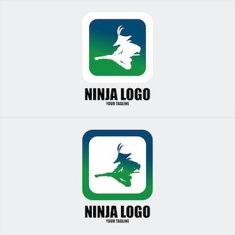 Ninja logo sentiti libero di aggiungere il tuo testo logo al logo