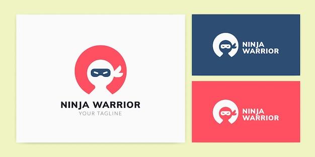 Modello logo ninja