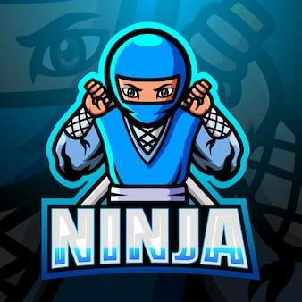 Illustrazione di esport mascotte ninja