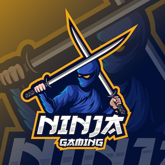 Logo esport ninja mascotte