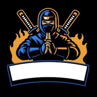 Ninja shinobi mascotte sportiva