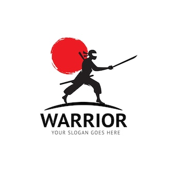 Logo del guerriero ninja
