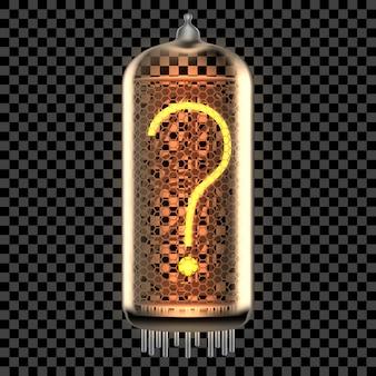 Spia del tubo nixie con simbolo
