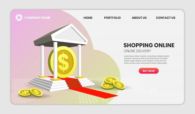 Pagina di destinazione di nline money banking.