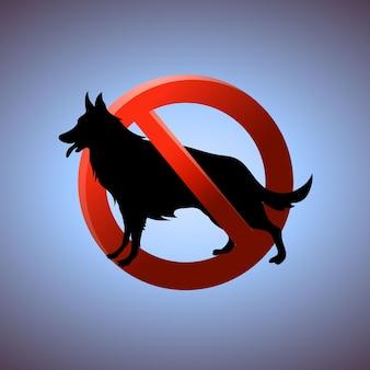 Nessuna illustrazione vettoriale di area per animali domestici o cani