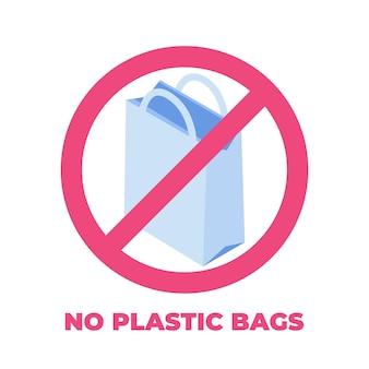 No ai sacchetti di plastica, concetto zero waste.