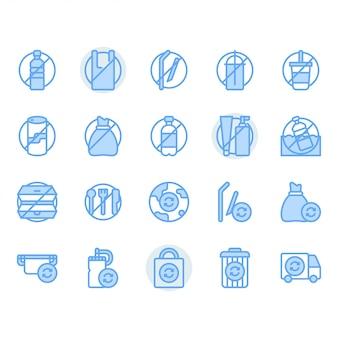 Nessun set di icone relative al concetto di plastica