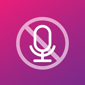 Nessuna icona vettoriale di registrazione con microfono