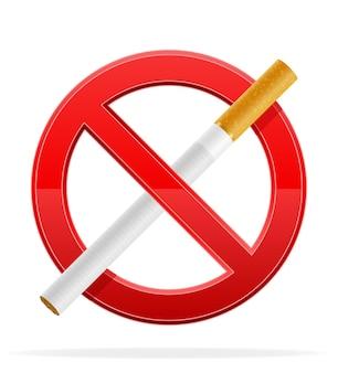 Nessun segno di fumo illustrazione isolato su bianco