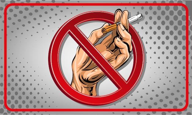 Nessun segno di fumare cartoon