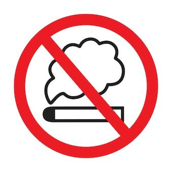Illustrazione vettoriale dell'icona del segno non fumatori