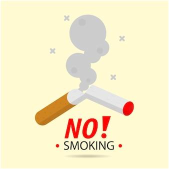 Non fumatori e zona fumatori. fumo di sigaretta, distintivo dell'icona di rischio di incendio