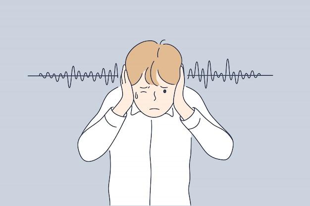 Rumore, stress, imprecazioni, concetto di protezione