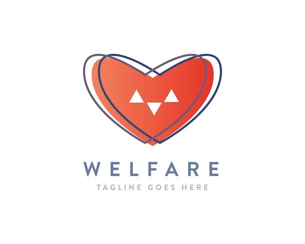 Organizzazione senza scopo di lucro o design del logo welfare