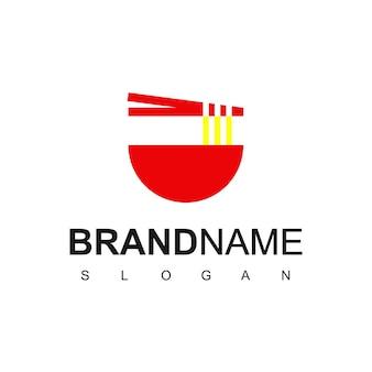 Noodle logo design vector