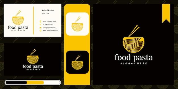 Logo di noodle per ramen business fast food ristorante cibo coreano cibo giapponese logo giapponese ramen