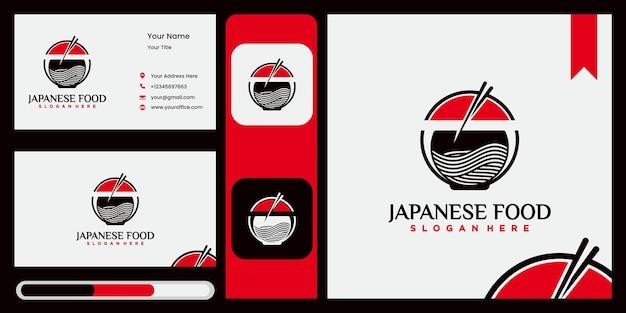 Logo di noodle per ramen business ristorante fast food cibo coreanocibo giapponese logo ramen giapponese