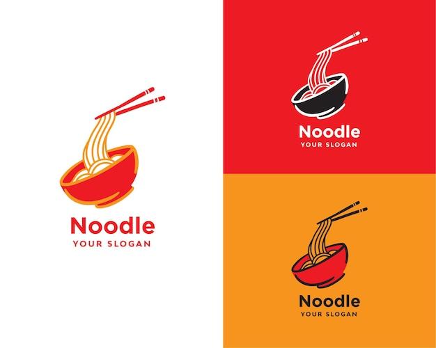 Logo del cibo del ristorante di noodle
