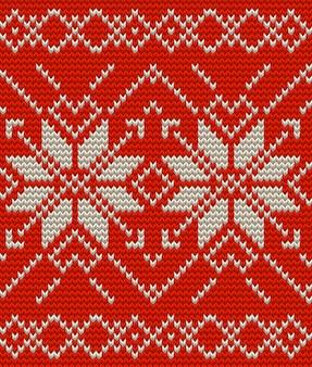 Modello senza cuciture perfetto lavorato a maglia nordica. Vettore Premium