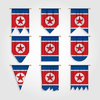 Bandiera della corea del nord in diverse forme, bandiera della corea del nord in varie forme