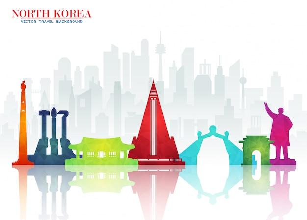 Documento di viaggio e viaggio globale del punto di riferimento della corea del nord