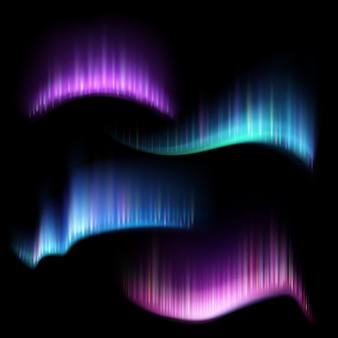 Strisce di luci aurore boreali