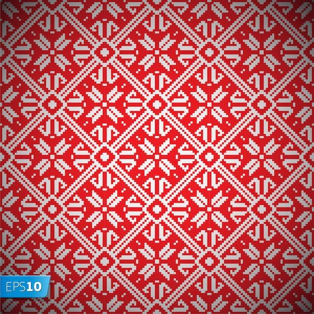 Norvegia natale seamless pattern sfondo vettoriale