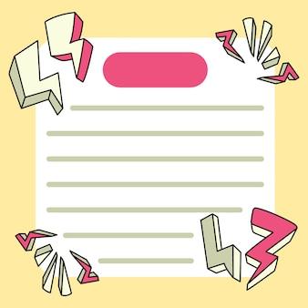 Il blocco note rimbomba i disegni a scuola per elencare le note quotidiane