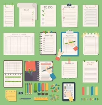 Agenda del taccuino agenda del pianificatore di affari nota riunione del piano del taccuino agenda del promemoria del lavoro