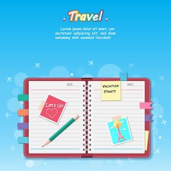 Notebook per viaggiare intorno al concetto del mondo.