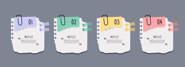 Set di striscioni per carte da lettere