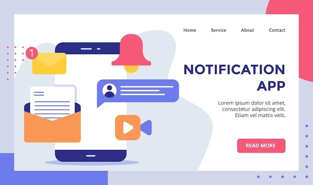 Chat e-mail dell'app di notifica per il sito web