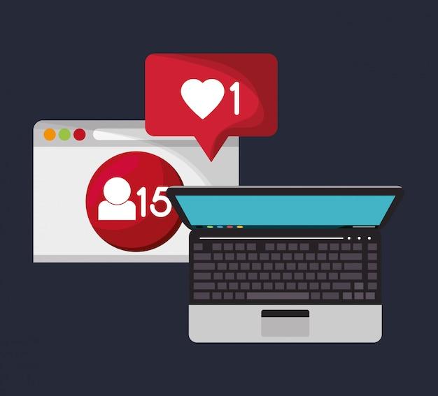 Icona di notifica nell'immagine relativa alla comunicazione