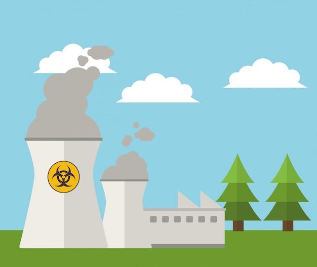 Paesaggio energetico di energia della centrale nucleare