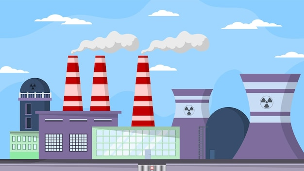 Centrale nucleare - scene esterne
