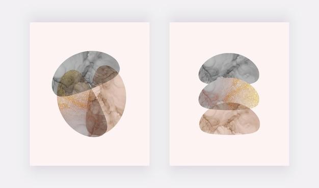 Design della copertina dell'inchiostro di alcool nudo e nero