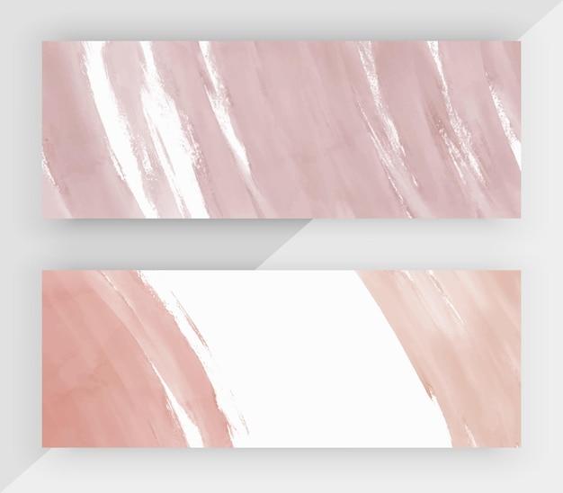 Bandiere orizzontali dell'acquerello del tratto di pennello nudo.