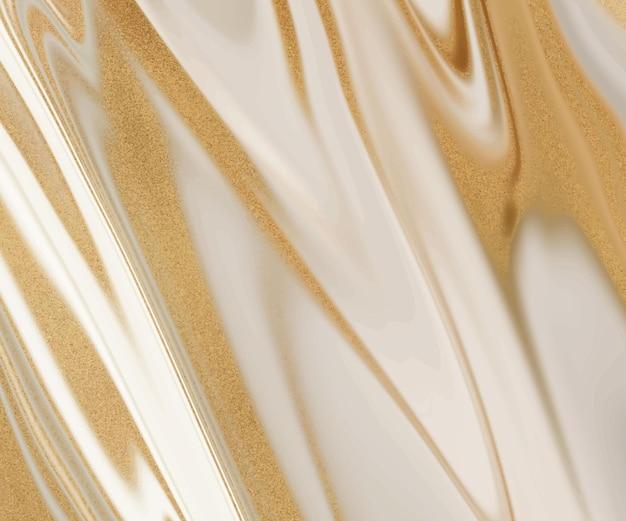 Inchiostro liquido nudo con texture glitter oro.